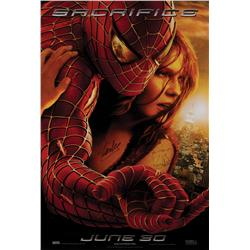 Spider-Man 2 one-sheet poster signed by Stan Lee and Kirsten Dunst