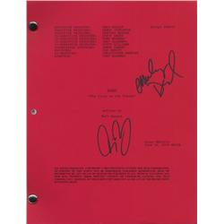 Original Bones script signed by Emily Deschanel and David Boreanaz