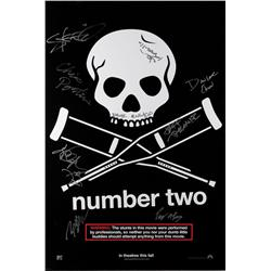 Jackass Number Two one-sheet poster signed by the cast