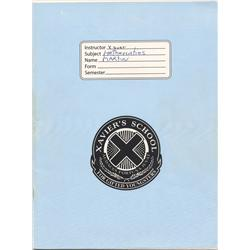 Xavier's School notebook and binder from X-Men: The Last Stand