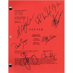 Dexter original script signed by the cast