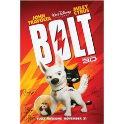 Bolt cast-signed one-sheet poster