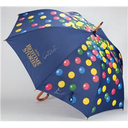 Bedtime Stories umbrella signed by Keri Russell, Adam Sandler, Russell Brand, Matt Lopez and Adam Sh