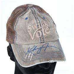 Collection of Swing Vote trucker hats signed by Kevin Costner, Kelsey Grammer, Dennis Hopper and Jos