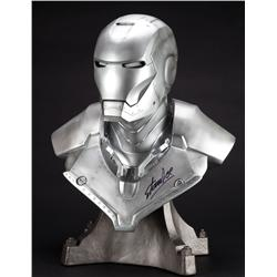 Limited Edition life-size bust of Iron Man MARK II and Iron Man one-sheet poster signed by Stan Lee
