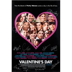 Valentine's Day cast-signed one-sheet poster