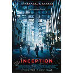 Inception cast-signed one-sheet poster