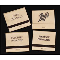 """Prop Biff's SFX """"transformation"""" matchbooks from Back to the Future II"""