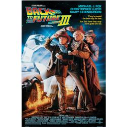 Back to the Future III double-sided one-sheet poster