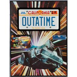 Screen-used OUTATIME license plate from the Back to the Future ride film at Universal Studios