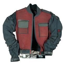 """Hero screen-used Michael J. Fox """"Marty McFly"""" Year 2015 """"resizing"""" future jacket worn in Back to the"""