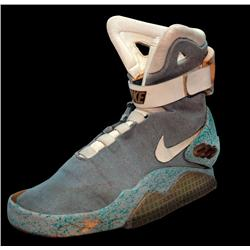 """Marty McFly Year 2015 future Nike """"Mag"""" self-lacing shoe worn in Back to the Future II"""