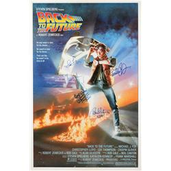 Back to the Future one-sheet poster signed by 6 principle cast members