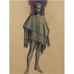 "Morton Haack costume design for Natalie Trundy ""Albina"" from Beneath the Planet of the Apes"