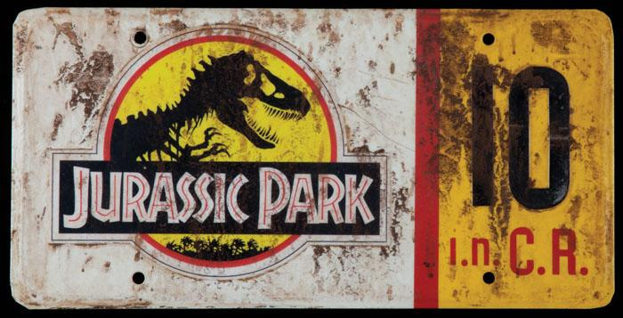 Image 1 : Screen Used Prop Jeep License Plate #10 From Jurassic Park ...