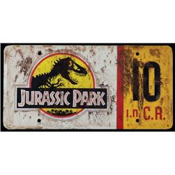 Screen-used prop Jeep license plate #10 from Jurassic Park