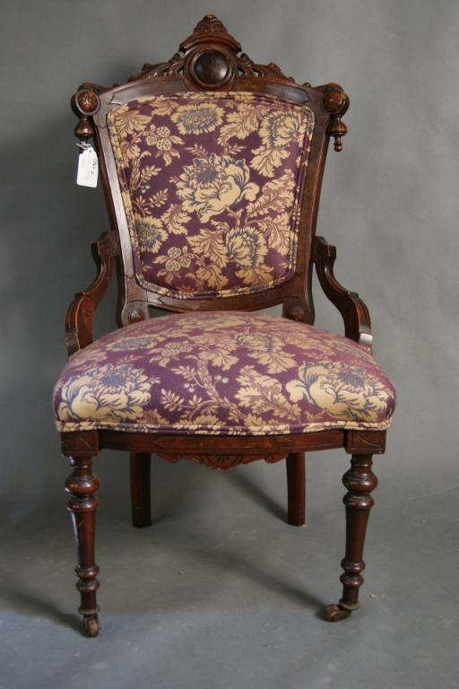 Image 1 : Victorian Eastlake Parlor Chair - Victorian Eastlake Parlor Chair
