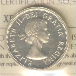 25 Cents 1956, graded ICCS PL-64; Heavy Cameo.