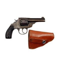 Iver Johnson DA Top Break Cal .38S&W SN:59219, Double action 5 shot top break revolver. Blued finish