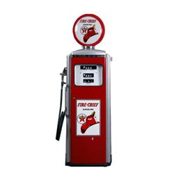 Beautifully Restored Texaco Gas Pump Red and silver  Firechief  manufactured by Tokheim Corp., as pe