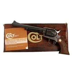 Colt New Frontier Cal .45LC SN:09762NF Very nice Colt revolver, standard finish, smooth wood grips,