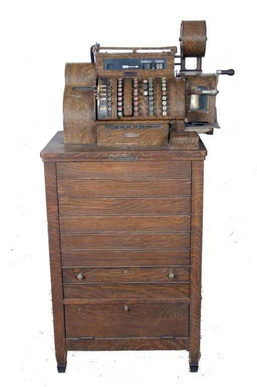 National Cash Register Used in department stores, wood grain ...