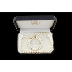 17  Strand of Pearls Plus Bracelet & Earrings Pearls are all 7mm+.Pearls are all 7mm+.