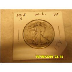 1918-S WALKING LIBERTY