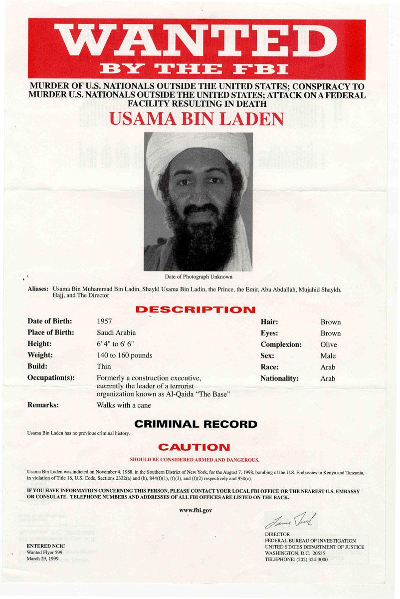 Watch more like Osama Bin Laden Wanted Poster – Wanted Criminal Poster
