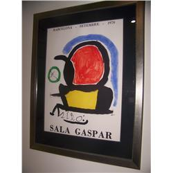 Miro Lithograph Poster with Centaur Galleries Certificate of Authenticity
