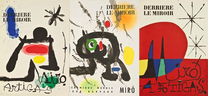 Collection of 3 derriere le miroir joan mir and for Miro derriere le miroir