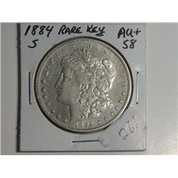 1884-S MORGAN DOLLAR