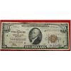 Federal Reserve Kansas City MO $10 Dollar Bill