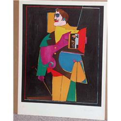 Richard Lindner, Heart, Signed Lithograph