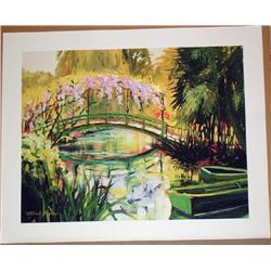 Michele Byrne, Monets Bridge, Signed Canvas Print