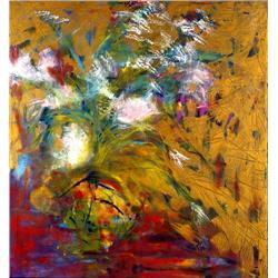 Anne Boysen, Cynthia's Flowers, Signed Canvas Print
