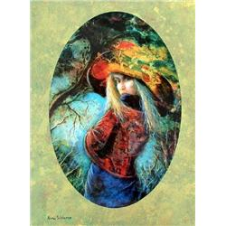 Rina Sutzkever, Untamed Beauty, Signed SS on Wood