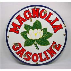 MAGNOLIA GASOLINE PORCELAIN ADVERTISING SIGN - App