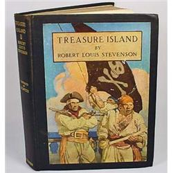 "1911 ""TREASURE ISLAND"" HARDCOVER BOOK - By Robert"