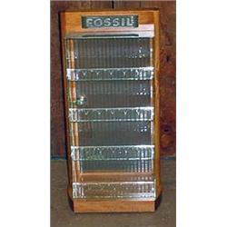 "FOSSIL WATCH DISPLAY CASE W/ KEY - Approx. 12.5"" w"