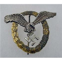 WW2 GERMAN NAZI LUFTWAFFE PILOT OBSERVER BADGE - M