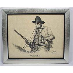 LTD. ED. JOHN WAYNE PRINT BY RON ADAIR - FRAMED -