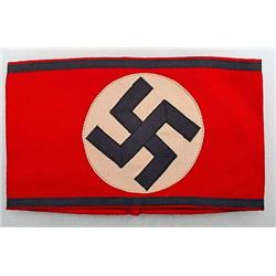 WW2 GERMAN NAZI WAFFEN SS ARM BAND - VERY FINE RED
