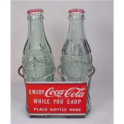 VINTAGE COCA COLA ADVERTISING SHOPPING CART BOTTLE