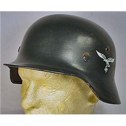 WW2 GERMAN NAZI LUFTWAFFE DOUBLE DECAL HELMET SHEL