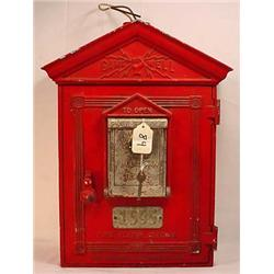 C. 1950'S GAMEWELL FIRE ALARM STATION FIRE BOX  W/