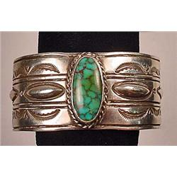 EARLY NATIVE AMERICAN INDIAN STERLING SILVER AND T