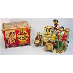 1945 LIL ABNER DOGPATCH BAND TIN WIND UP TOY IN OR