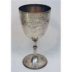 1877 STONE RACE ENGRAVED TROPHY CUP - Chelt Coll A
