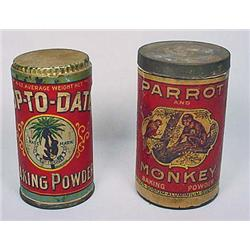 LOT OF 2 EARLY ADVERTISING CONTAINERS - INCL. BLAC